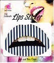 Lip Tattoo Zwart Wit gestreept