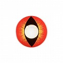 Crazy kleurlenzen Cat Eye Red Yello..